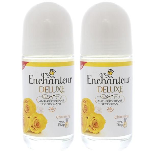 Combo 2 Chai Lăn khử mùi Enchanteur Deluxe Charming Trắng Da Hương Nước Hoa 25ML LƯU HƯƠNG 24H giá rẻ