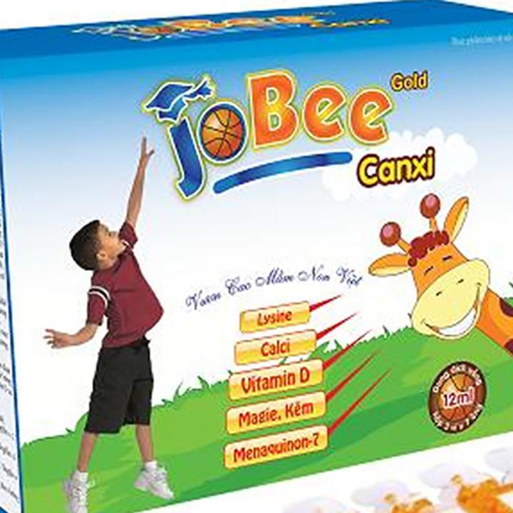 Thực phẩm giúp trẻ phát triển chiều cao Jobee Canxi Gold cao cấp