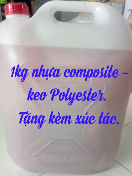 Mua 1kg Nhựa Composite - Keo Polyester resin - Keo Poly hồng và xúc tác (1 bộ).