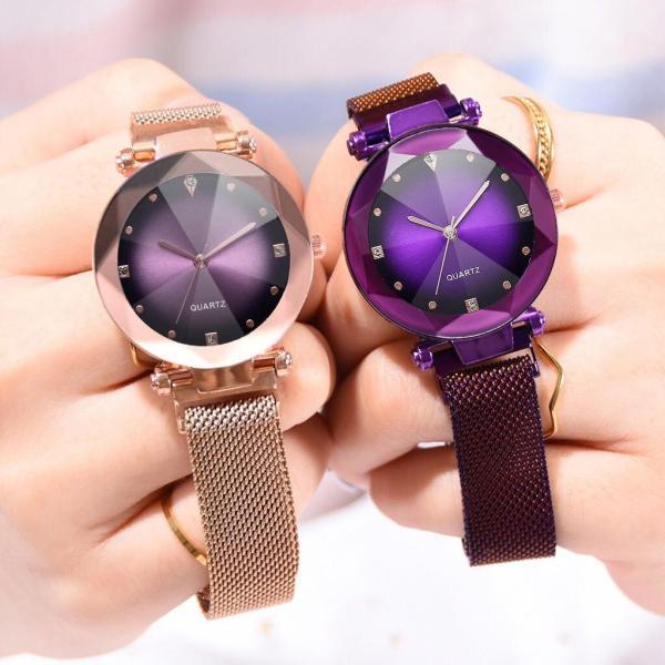 Đồng hồ thời trang nữ dây lưới nam châm  Ulzzang