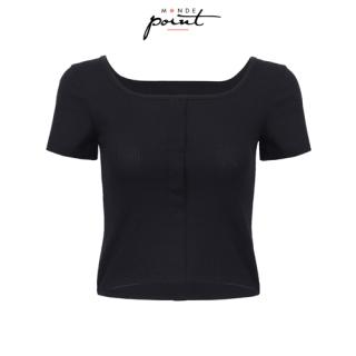 Áo t-shirt nữ cổ vuông Monde Point MPWA08103101, kiểu dáng nữ tính, màu sắc trang nhã, dễ phối với nhiều trang phục, phụ kiện khác nhau thumbnail
