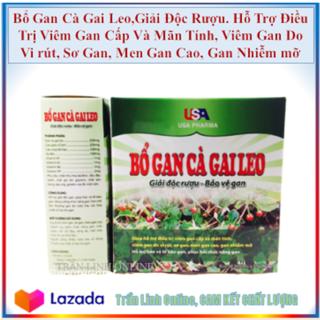 Bổ Gan Cà Gai Leo USA Pharma mát gan - Giải Độc Rượu, Bảo vệ Gan - Hạ Men Gan thumbnail