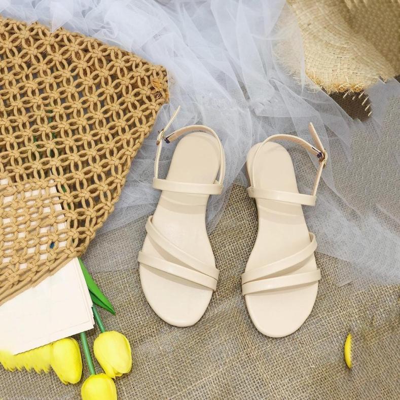 Giày sandal 2 quai xéo hở gót SD0250 giá rẻ