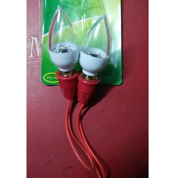 Combo 2 bóng ớt led đổi 7 màu E12 có tặng 2 đui đèn