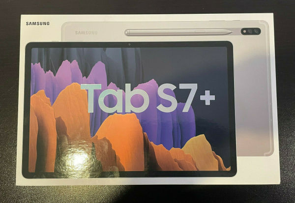 Brand New Samsung Galaxy Tab S7+ Plus 256GB Wi-Fi 12.4 Mystic Silver Android SPen chính hãng