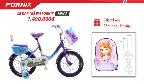 Giá bán Xe đạp trẻ em Fornix Panda (Kèm bộ dụng cụ) - BẢO HÀNH 12 THÁNG + Tặng Balo trẻ em