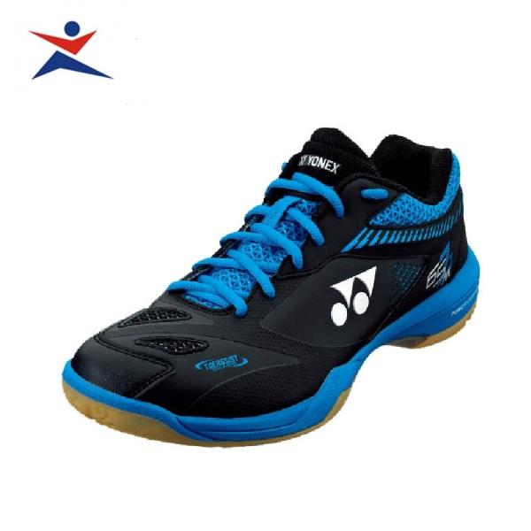 Giày cầu lông Yonex chuyên nghiệp, chống lật cổ  chân, dành cho nam và nữ, màu đen viền xanh, hàng có sẵn, đủ size - GIày đánh bóng chuyền - Giầy thể thao cầu lông - sportmaster