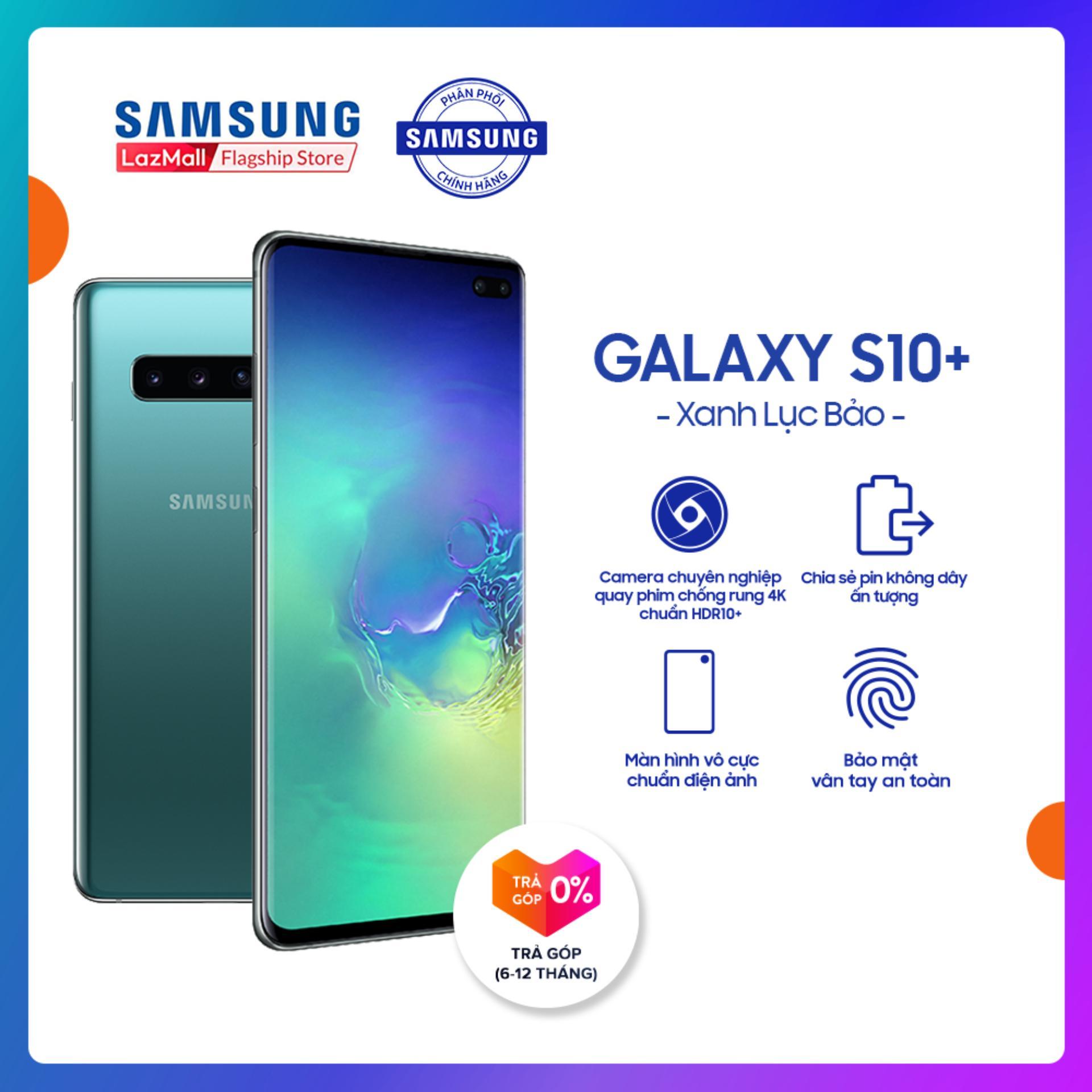 Điện thoại Samsung S10 PLUS 128GB (8GB RAM) - Màn hình Dynamic AMOLED 6.4 , HD+, Quét vân tay siêu âm - Powershare, Camera trước 8 MP, 2 Nano SIM, hỗ trợ 4G - Hàng phân phối chính hãng.