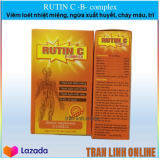 Rutin C B-complex USA Pharm - Viêm Loét Nhiệt Miện, Ngăn Ngừa Chảy Máu Chân răng, Trĩ Nội, Trĩ Ngoại thumbnail