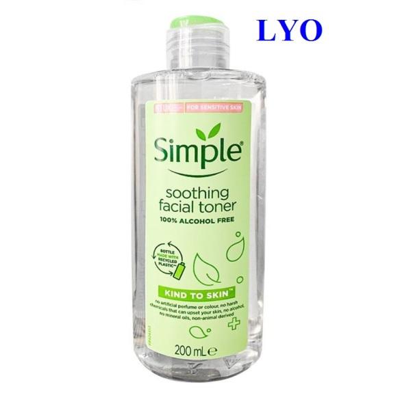 Nước Hoa Hồng Soothing Facial Toner Simple 200ml.