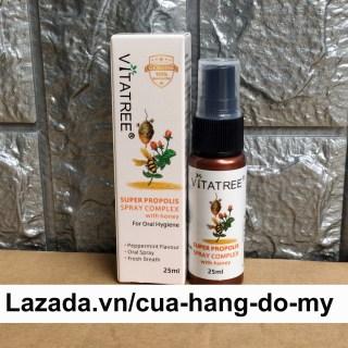 Chai Xịt Keo Ong Vitatree 25ml Super Propolis Spray Complex with Honey Giảm Đau Họng Của Úc thumbnail