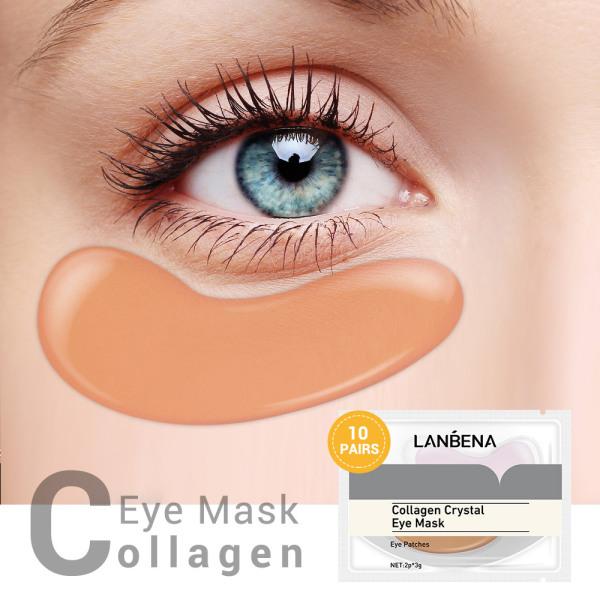 LANBENA Mặt nạ mắt Collagen cho túi mắt 10 cặp Chống lão hóa Xóa nếp nhăn Hủy bỏ quầng thâm Dưỡng ẩm Bản vá mắt bằng gel Chăm sóc da mắt cao cấp