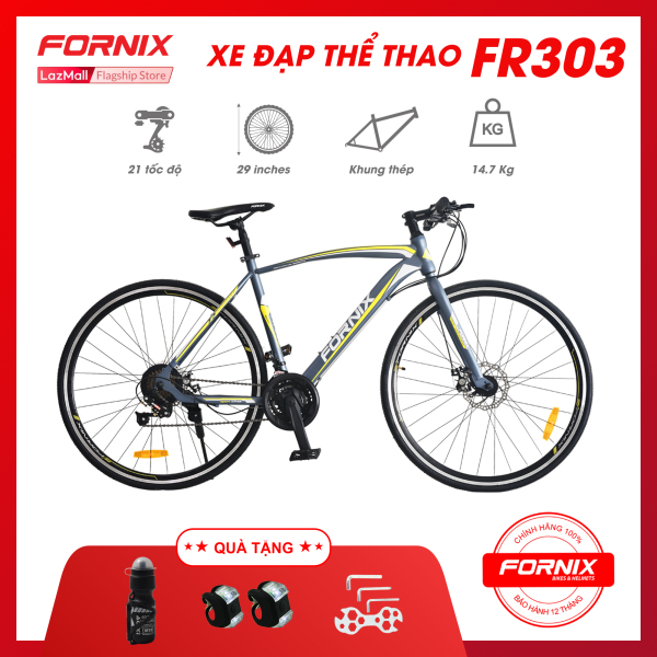 Phân phối Xe đạp thể thao Fornix FR303- Vòng bánh 700C (KEM SÁCH HƯỚNG DẪN) - Bảo hành 12 tháng + Tặng( Bình nước- Đèn led trước sau - Bộ lắp ráp)