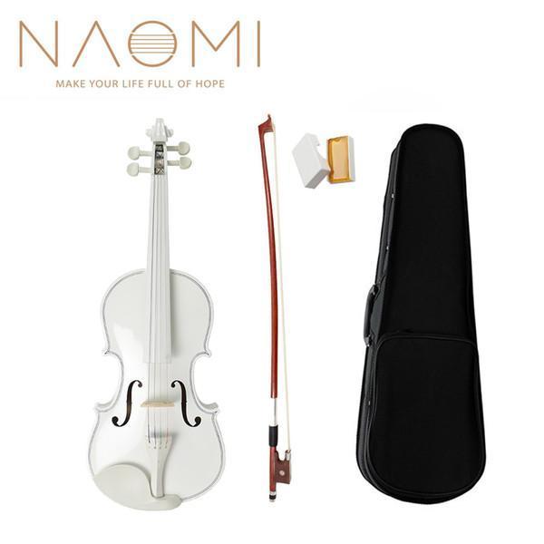 Đàn Violin Gỗ 4/4 Màu Trắng Đen Full Phụ Kiện