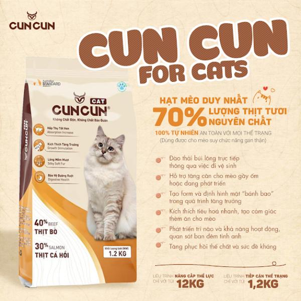 Thức Ăn Cho Mèo Hạt CUNCUN Hạt Tươi Dinh Dưỡng Dành Riêng Cho Mèo