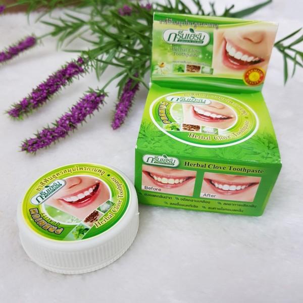 Bộ Kem Đánh Răng Tẩy Trắng Green Herb Clove Toothpaste + Coconut Toothpaste Thái Lan