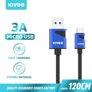 Cáp sạc nhanh 3A 1,2M Cáp sạc Micro USB Cáp sạc Type-C Cáp sạc Iphone Dây dữ liệu cho Iphone Xiaomi Samsung Huawei Dây cáp Bộ sạc USB Điện thoại di động(CT015) KIVEE thumbnail