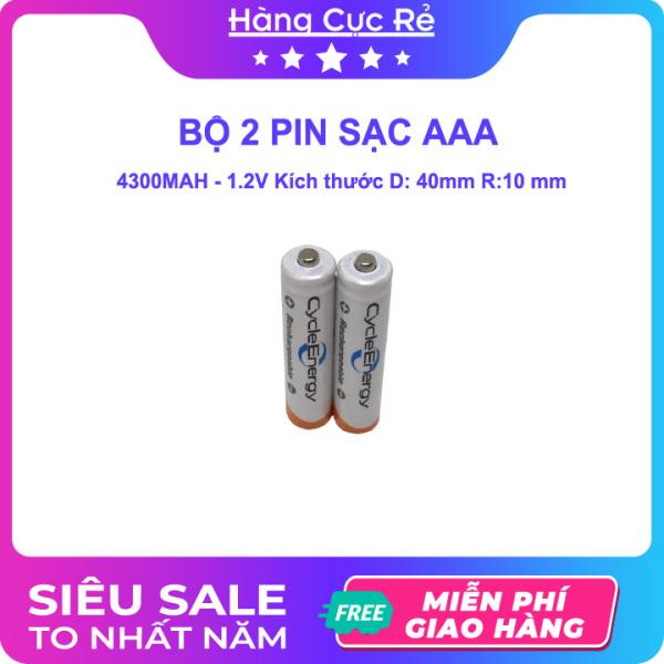 Bảng giá Bộ 2 Pin sạc AAA (3A) loại tốt Ni-MH 4300mAh 1.2V - Pin tiểu Cycle Energy Rechargeable - Shop Hàng Cực Rẻ