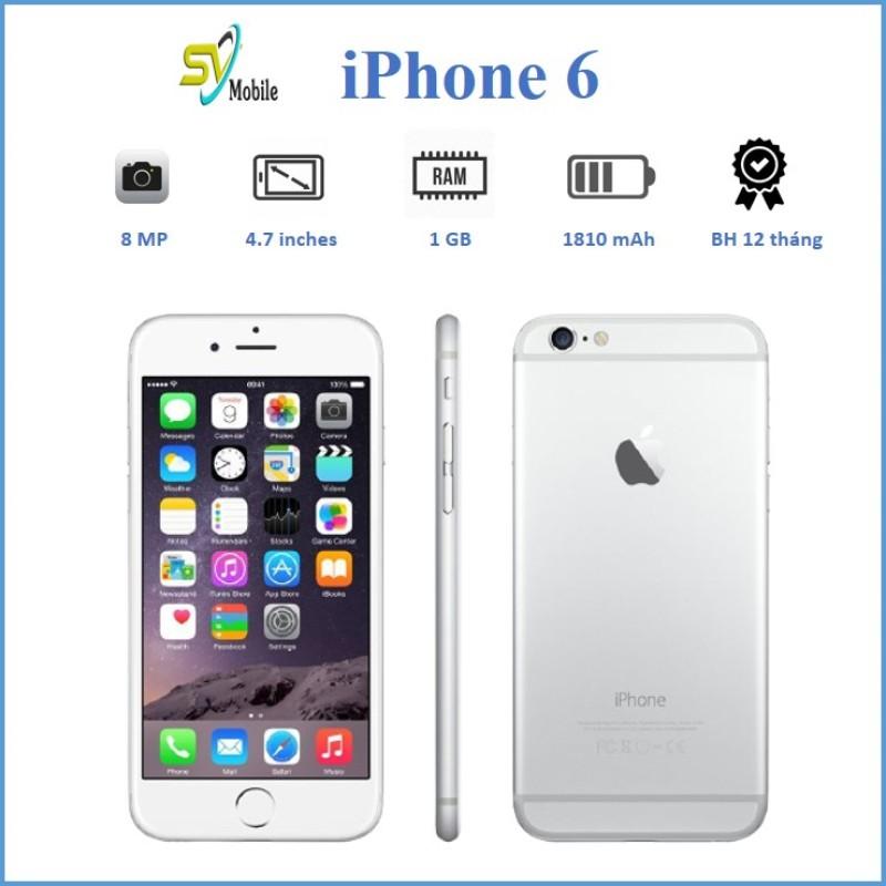 Điện Thoại iPhone 6 Chính Hãng 16-32-64GB. Tặng Cáp Sạc Bảo Hành 12 Tháng, Đổi Mới 30 Ngày