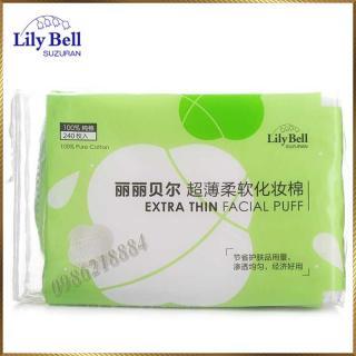 [Lấy mã giảm thêm 30%] Bông tẩy trang Lily Bell vỏ xanh Extra Thin 240 miếng LBE24 thumbnail