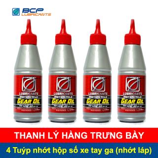 [THANH LÝ HÀNG TRƯNG BÀY] 4 Tuýp nhớt hộp số xe tay ga (nhớt láp) BCP Thái Lan Scooter Gear Oil SAE 10W40 120 ML thumbnail