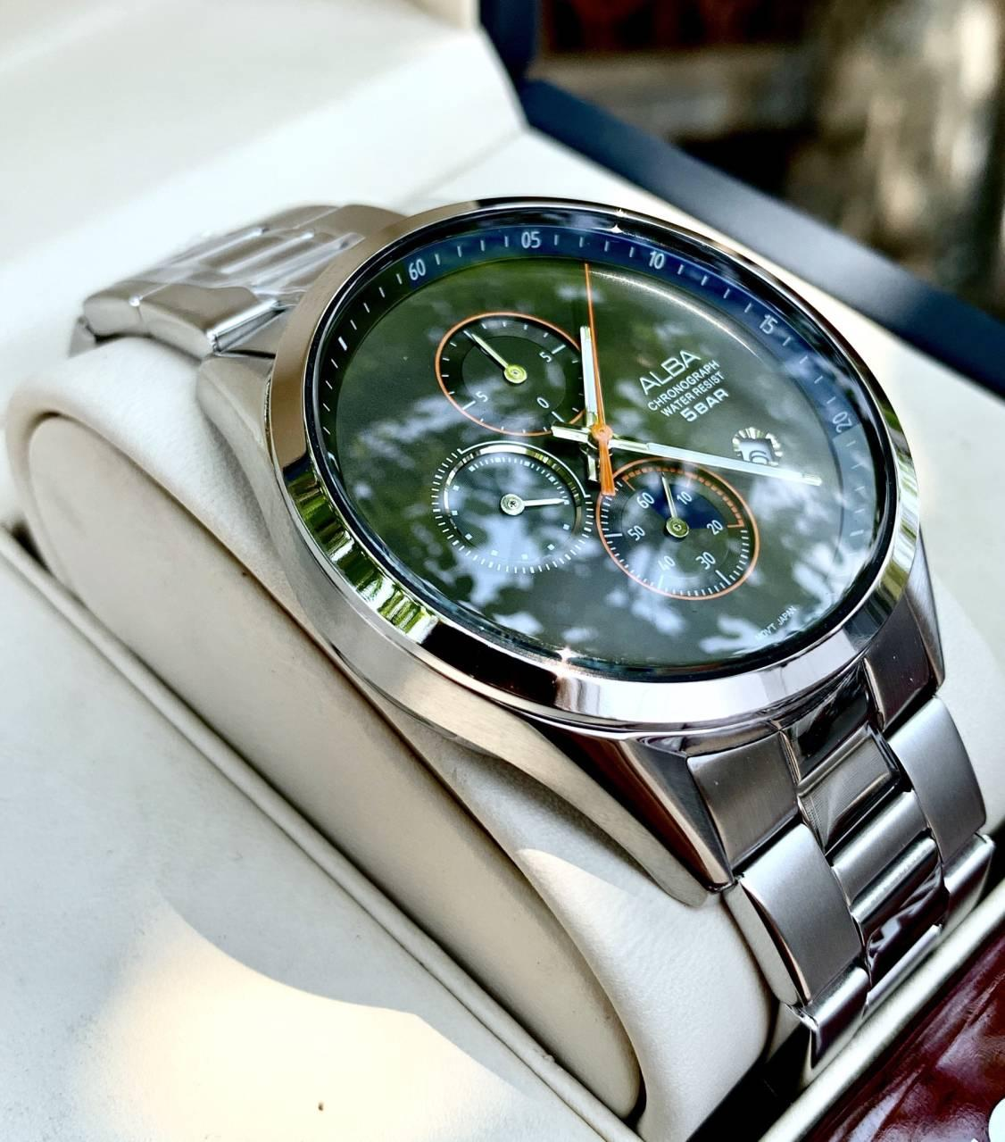 Nơi bán ĐỒNG HỒ NAM Seiko Alba AM3567X1 chronograph 6 kim