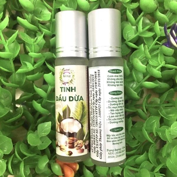 Lăn dưỡng môi tinh dầu dừa nguyên chất thơm xịn (lọ 10ml) giá rẻ
