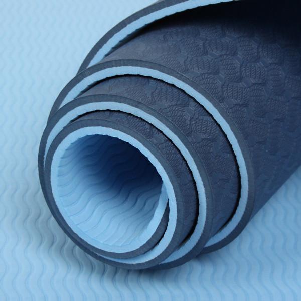 Thảm Tập Tpe Yoga Mat Cao Cấp 6Mm 2 Lớp - Xanh Dương
