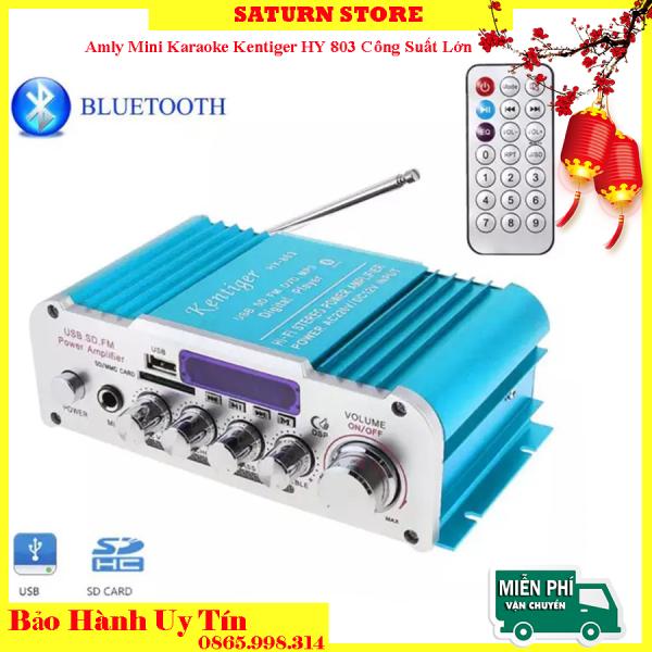Amply Nào Tốt, Amply 12V, Amly mini Karaoke Kentiger HY 803 Công Suất Lớn Âm Thanh Hay, Âm Bass Chuẩn, Kết Nối Bluetooth Ổn Định, Thiết Kế Nhỏ Gọn Dễ Lắp Đặt - BIGSALE 50%