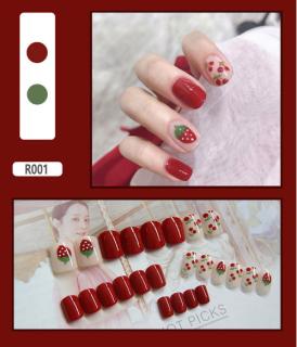 Hộp 24 Móng tay giả Chứa keo ,Năm phong cách chọn móng tay giả nail giả , móng giả A8 ( Sản phẩm đã có sẳn keo ) thumbnail