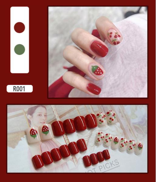 Hộp 24 Móng tay giả(Chứa keo),Năm phong cách chọn móng tay giả, nail giả , móng giả A8 ( Sản phẩm đã có sẳn keo ) giá rẻ