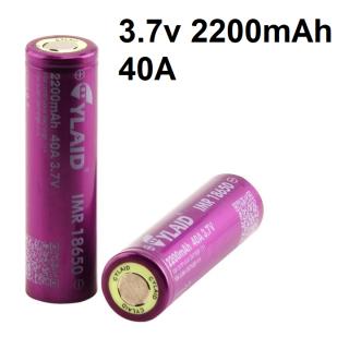 Pin IMR 18650 Lithium 3.7v 2200mah dòng xả cao 40A pin mới (1 viên) thumbnail