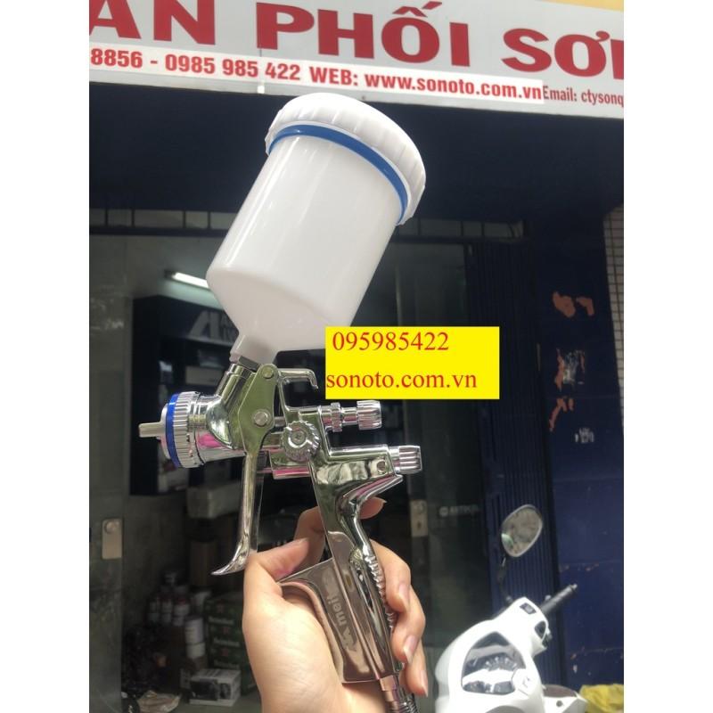 Súng phun sơn áp lực thấp HVLP chính hãng Meite MT4000PRO 14 lỗ phun đầu 1.3mm bản 2021