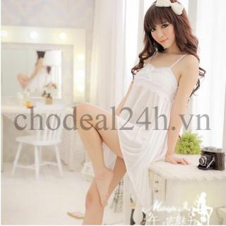 Áo đầm ngủ quyến rũ Angel CDAN03 Chodeal24h (Trắng Phi Thun) thumbnail