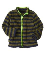 Hình ảnh Áo khoác lông cừu Crazy8 34782 Stripe Sherpar Olive Green sz 5-6y