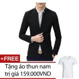 Cửa Hàng Ao Vest Nam Titishopvn Akn265 Đen Tặng 1 Ao Thun Nam Titishop Trong Vietnam
