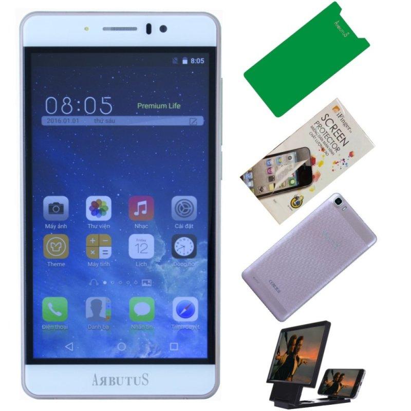Arbutus Ar7 Plus 8GB ( Vàng hồng) + 1 Dán màn hình + 1 ốp lưng + 1 Cường lực + 1 Kính 3D phóng đại màn hình - Hàng nhập khẩu