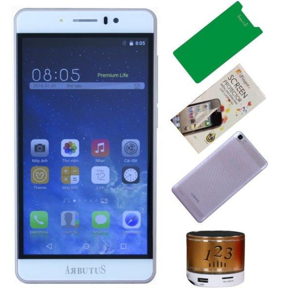 Arbutus Ar7 Plus 8GB ( Vàng hồng ) + 1 Dán màn hình + 1 ốp lưng + 1 Cường lực + 1 Loa nghe nhạc Bluetooth - Hàng nhập khẩu