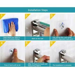 Giá Treo Khăn Dính Tường Phòng Tắm Inox 201 Mengni - hình 3