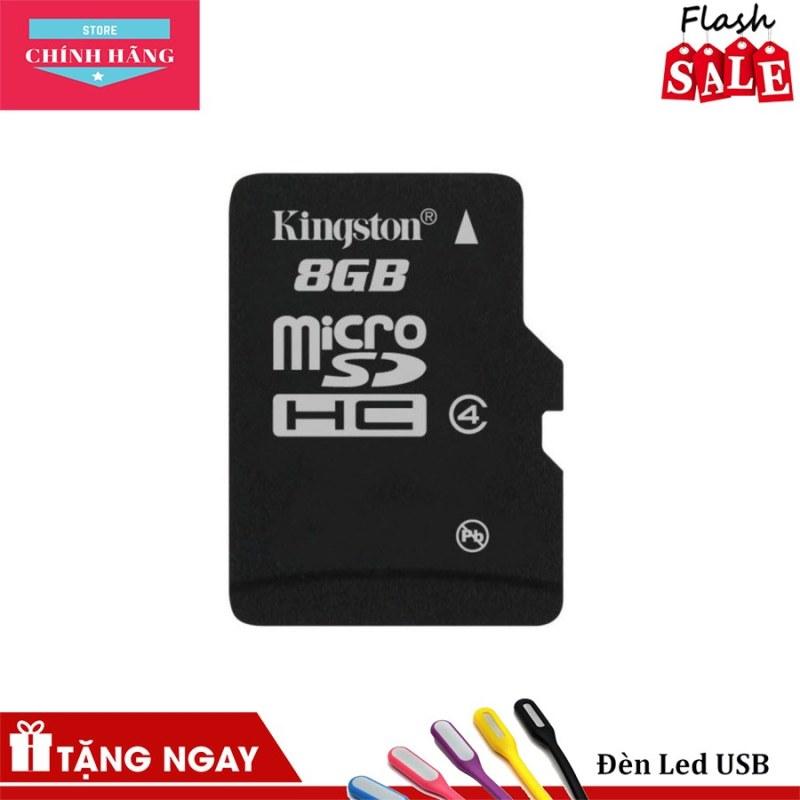 Thẻ nhớ micro SDHC Kingston 8GB Class 4 (hàng TRAY) + Hộp nhựa - Bảo Hành 3 Năm