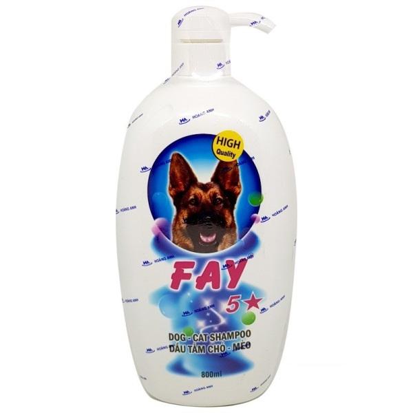 [HCM]Sữa tắm cho chó mèo Fay 5 sao 800ml - Dầu tắm Fay 5 sao 800ml
