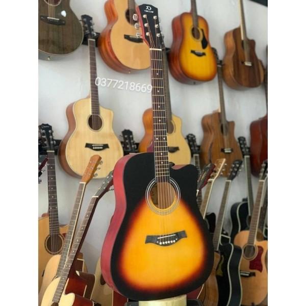 guitar Acoustic gỗ hồng đào có ty TOKADO T80 full phụ kiện