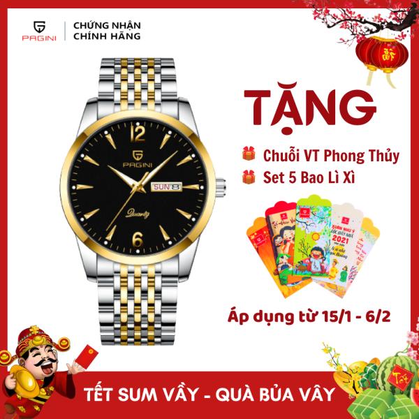Nơi bán Đồng Hồ Nam PAGINI PA5566 Dây Thép Không Gỉ Kim Dạ Quang - 2 Lịch