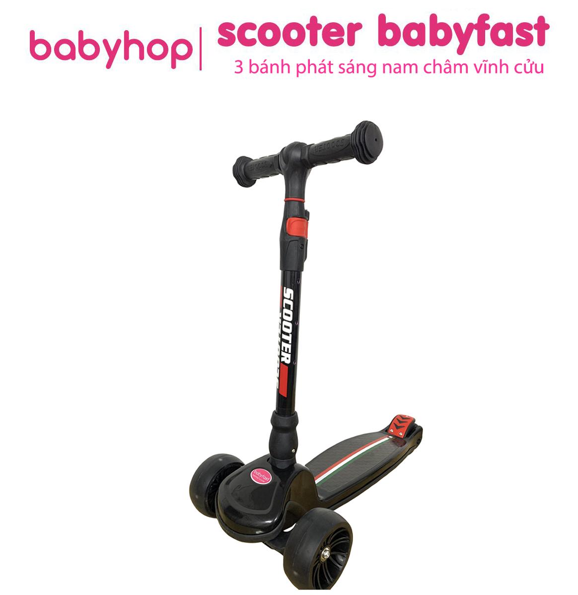 Xe Trượt Scooter Babyfast 3 Bánh Phát Sáng Vĩnh Cửu, Rèn Luyện Vận động & Tăng Chiều Cao Cho Trẻ 2-6 Tuổi Với Giá Sốc