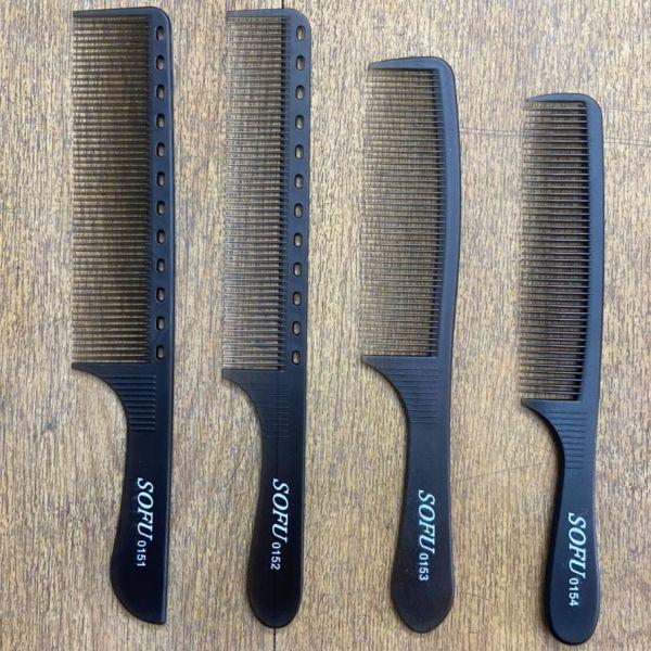 Bộ Lược cắt tóc nam SOFU mỏng dẻo bám tóc tốt giá rẻ