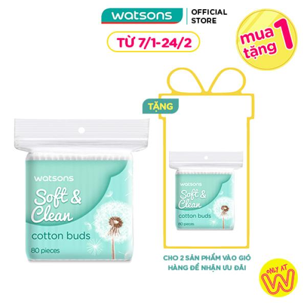 Tăm Bông Watsons Cotton Buds 80 Que giá rẻ