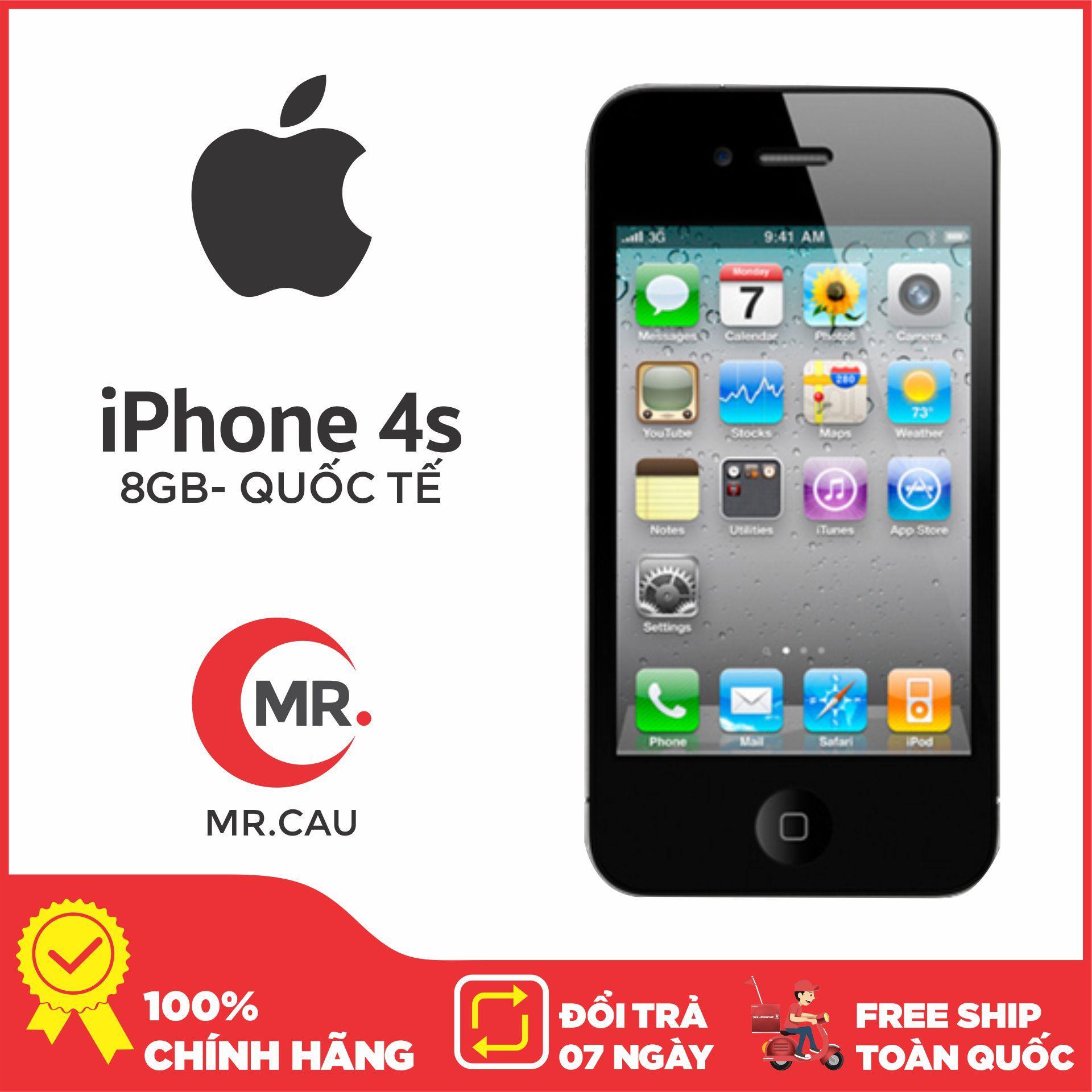 Siêu Tiết Kiệm Khi Mua Điện Thoại Apple IPhone 4 -8 GB - Bản QUỐC TẾ MÁY ĐẸP FULL CHỨC NẮNG Nghe Gọi Thao Tác Cảm ứng Lên Mạng Giải Trí Chip A4 Ram 512 MB Phù Hợp Cho Sinh Viên , Tặng Dây Sạc - Đổi Trả Miễn Phí 7 Tại Nhà - Yên Tâm Mua Sắm Với Mr Cầu