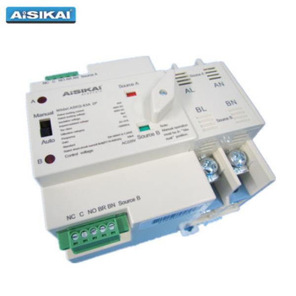 Bảng giá Cầu dao chuyển nguồn tự động không gián đoạn ATS 2P 63A Aisikai cho hộ gia đình