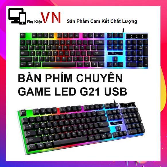 Deal Hot Bàn phím giả cơ game G21 LED chuyên dụng 2018