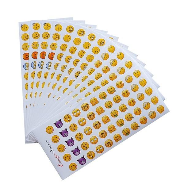 Mua Bộ 12 Tấm Sticker Dán Trang Trí - Emoji (70 x 165 mm)